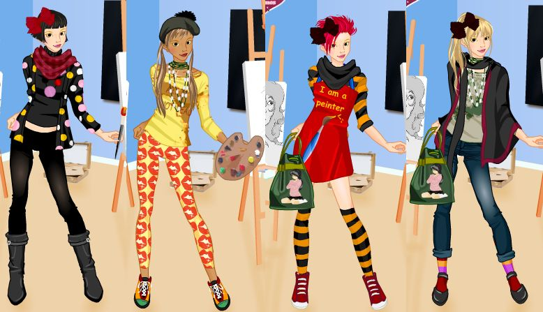 Dressing up games are cool again  and now online!